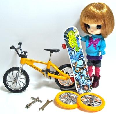 ミニチュアのスケートボード