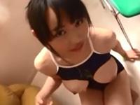吉永あかね スクール水着 美少女 パイズリ 爆乳 フェラ 清楚