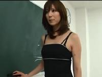 澤村レイコ フェラ 女教師 淫乱 人妻 熟女 スレンダー 痴女 焦らし