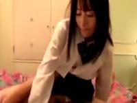 大島美緒 ハメ撮り 美少女 美乳 敏感 清楚 フェラ 着衣 騎乗位 恥じらい