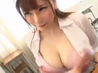 沖田杏梨 フェラ 女教師 微乳 エロボディ 痴女 パイズリ 誘惑