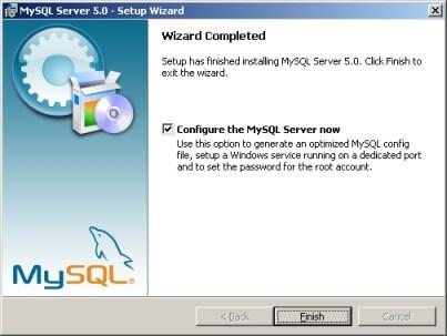 MySQLのセットアップ