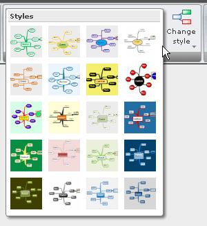 マインドマップのスタイルテンプレート一覧