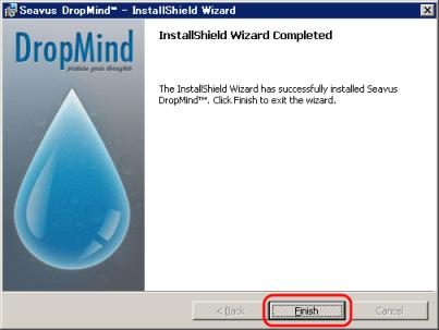 「DropMind」インストール終了