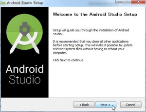 [Welcome to the Android Studio Setup]画面
