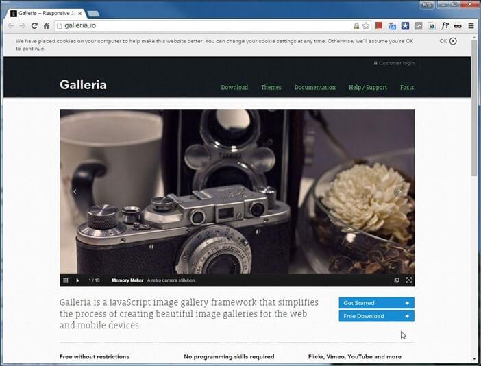 コンテンツスライダー「Galleria」公式webサイト