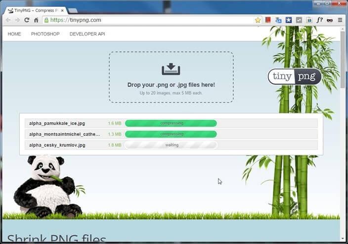 処理状況は各ファイルごとにプログレスバーで表示される