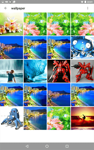 GalleryVaultで写真を隠す操作手順、画像が非表示になったか確認する