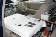 車内の作業スペース