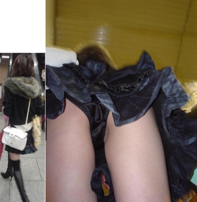 スカートの中を逆さ撮りしたったwwwムッチリでエロすぎ画像(30枚)15