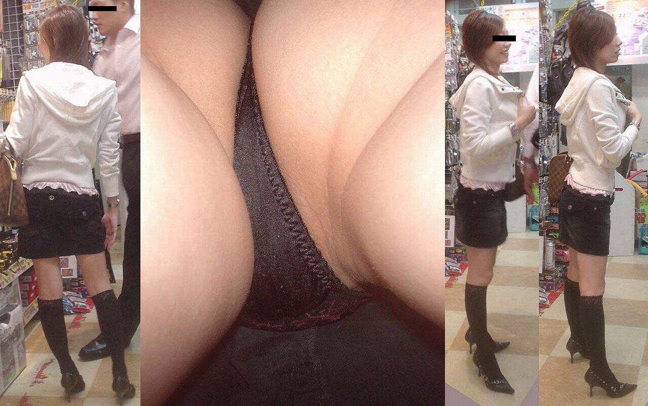 スカートの中を逆さ撮りしたったwwwムッチリでエロすぎ画像(30枚)16