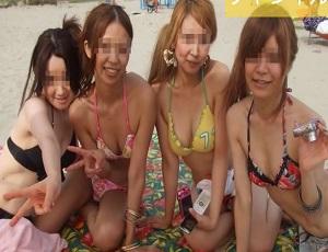 セクシー限定!夏の海・川で撮影されたエロカワな素人水着