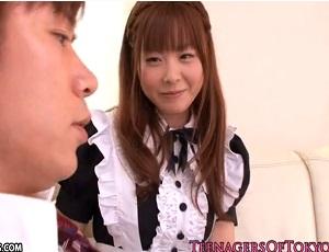 【園咲杏里】148cm ミクロな女の子がメイド姿でおねだりSEX kawaii*デビュー