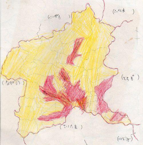 群馬県市町村図