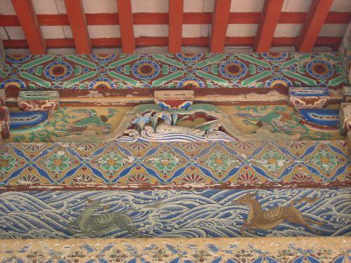 2008年の貫前神社拝殿の彫刻