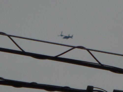 群馬県上空を南南東方向へ進むオスプレイ(1)