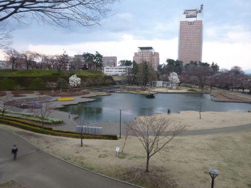 歩道から見下ろしたさちの池周辺(3)