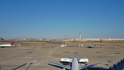 羽田空港 国際線ターミナル 展望デッキ 見晴