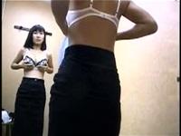 下着ショップの試着室を隠し撮り。見事に全員が巨乳です。【盗撮動画】