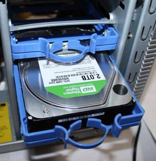 ハードディスク取付