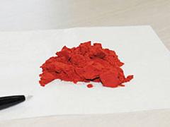 赤茶色をした粉末状の機能性素材「テアフラビン」
