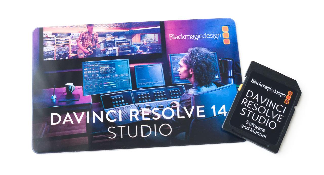 DaVinci Resolve 14 Studio Card