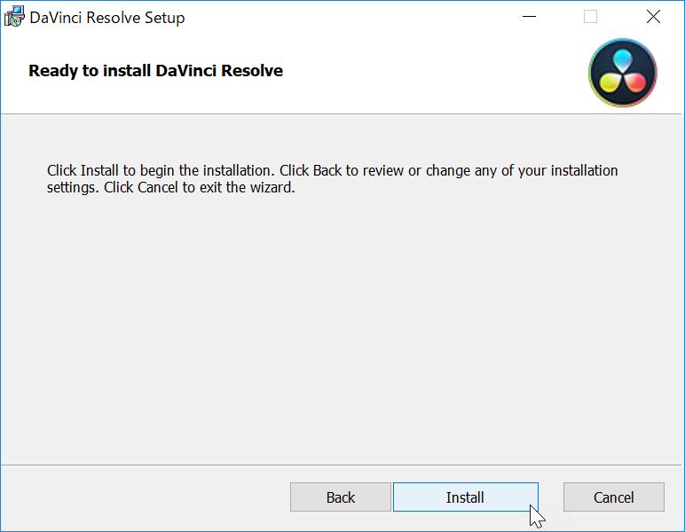 Install DaVinci Resolve 14 Studio