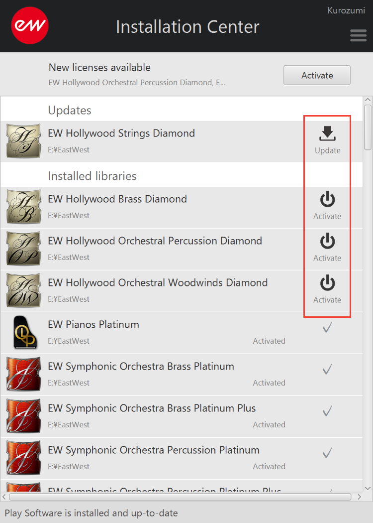 EastWest Hollywood Orchestra Diamond - Set location