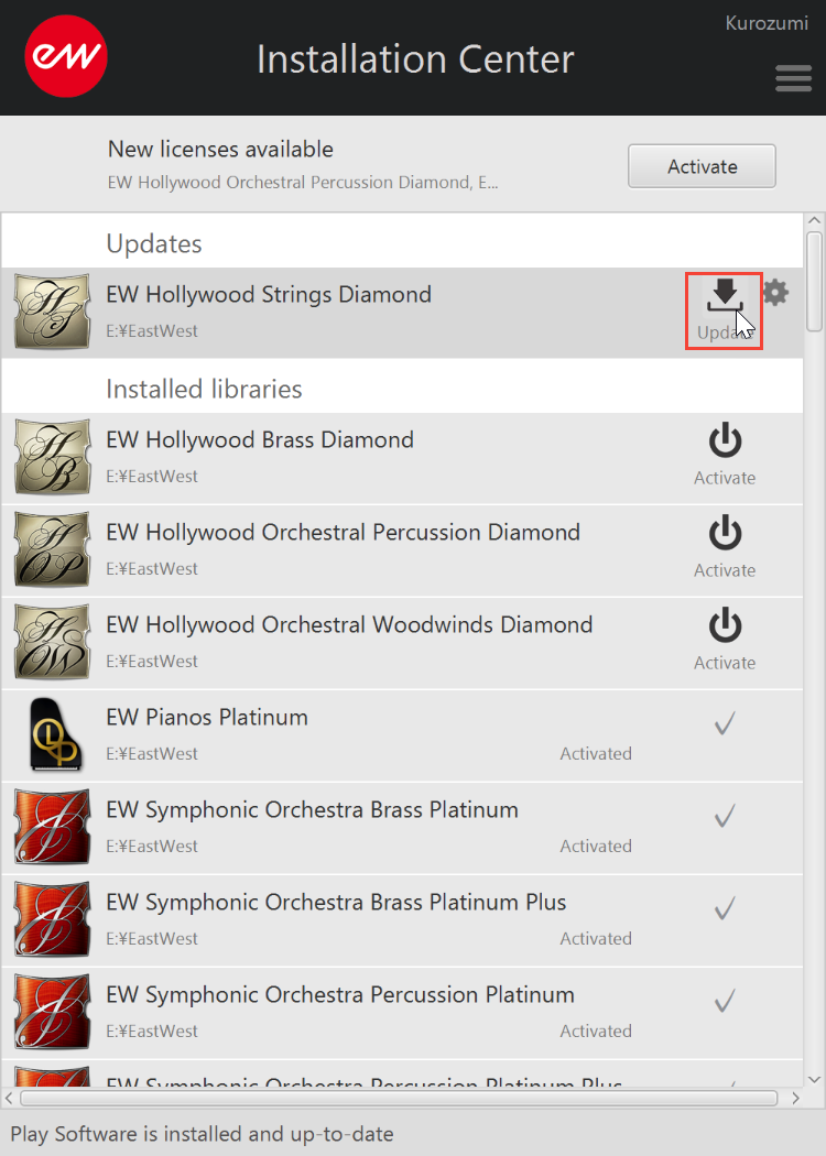 EastWest Hollywood Orchestra Diamond - Update