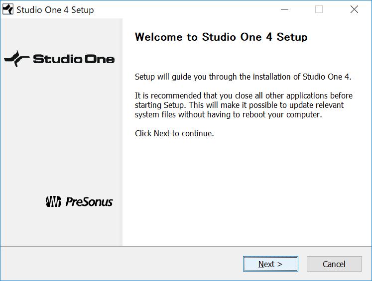 Studio One 4 Setup