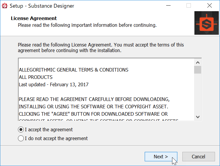 Install Substance 2017.1