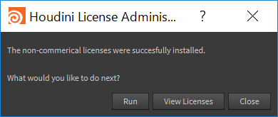 License Installed