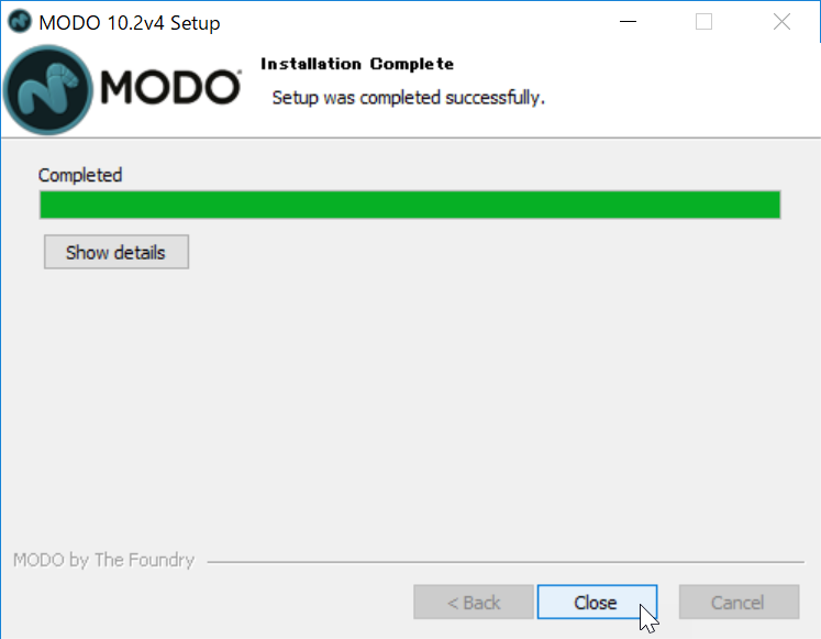Install MODO 10.2v4