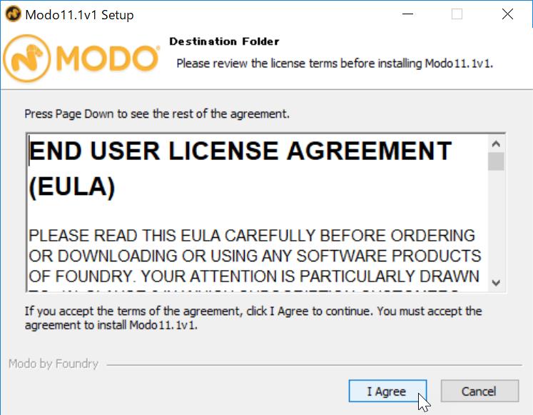 Install MODO 11.1v1