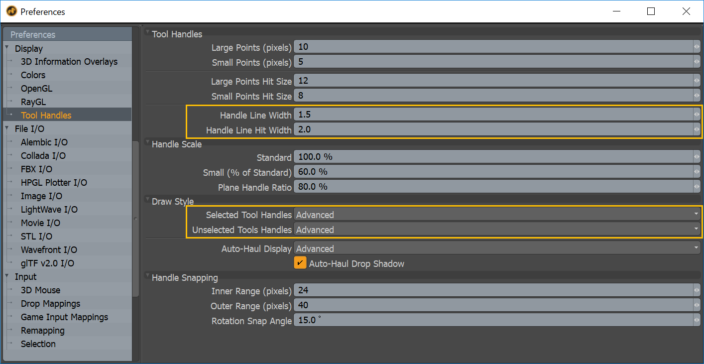 MODO 12.1v1 Settings