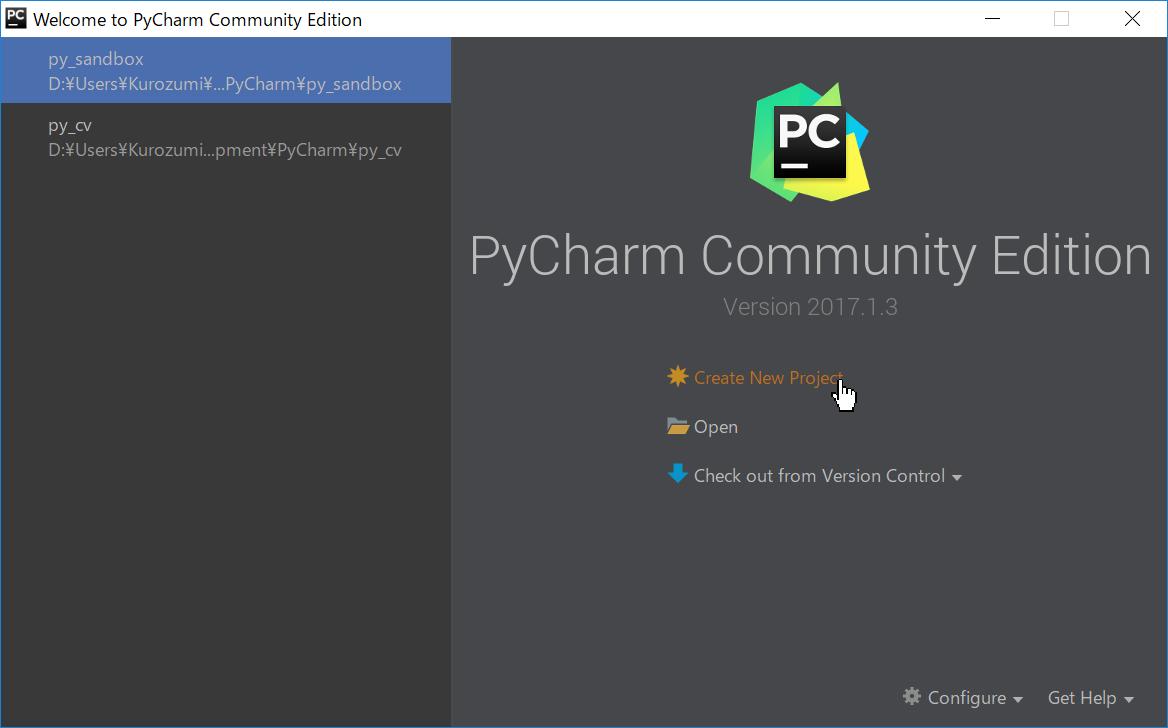 Create PyCharm Project