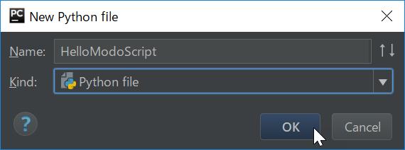 Create modo script