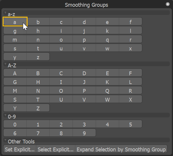 Set smoothing group