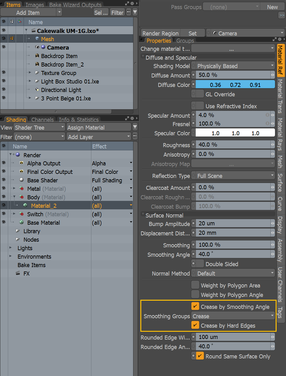Smoothing groups setting