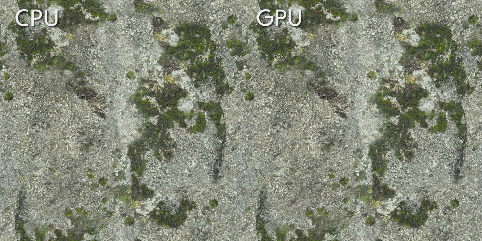Compare CPU and GPU