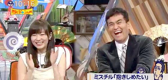 ワイドナショー画像 指原莉乃 石原良純 松本人志の「ミスチルが愛・佐世保をパクったらいい」という意見に爆笑する2人 2015年12月20日