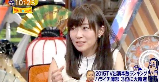 ワイドナショー画像 指原莉乃「菊地亜美がアイドリングを卒業してピンで活動してるのを見ると先に行かれたと感じる」 2015年12月20日