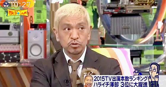 ワイドナショー画像 松本人志「石原良純さんはバラエティのことをちゃんとわかってる。サービス精神で急にキレ出したりするから」 2015年12月20日