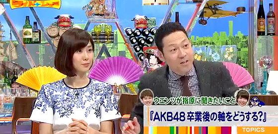 ワイドナショー画像 正月SP 山崎夕貴アナウンサー 東野幸治が指原莉乃にAKB卒業後の軸についてを進行 2016年1月1日