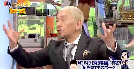 ワイドナショー画像 松本人志がNHKアナウンサーのシャレに怒る 2016年1月10日