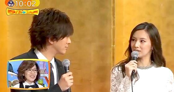 ワイドナショー画像 DAIGO&北川景子の結婚会見で見つめ合う2人 2016年1月17日