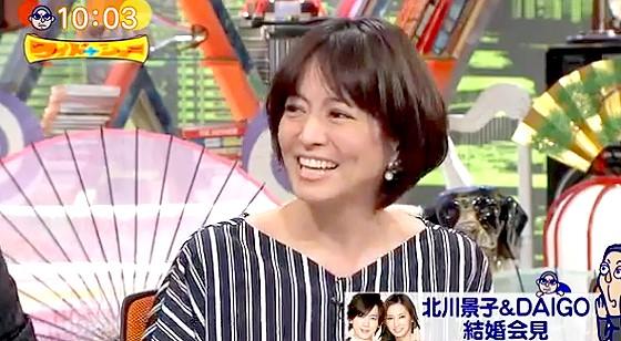 ワイドナショー画像 赤江珠緒が北川景子の結婚の速報をDAIGO語で伝えるがスペルを間違える 2016年1月17日