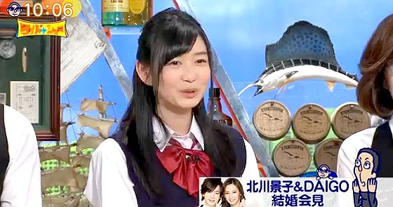 ワイドナショー画像 岡本夏美「DAIGO&北川景子は高校生にとって憧れのカップル」 2016年1月17日