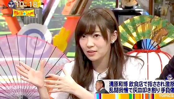 ワイドナショー画像 HKT48指原莉乃が清原和博のブログ記事について質問 2016年1月24日
