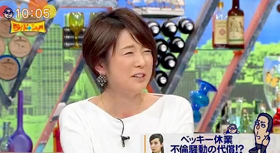 ワイドナショー画像 秋元優里アナがベッキー騒動に「卒論なんていう言葉は嫌」 2016年1月31日